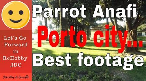 Testing a Parrot Anafi in Porto City